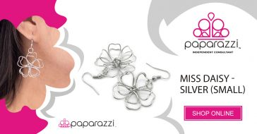 Paparazzi Accessories Miss Daisy-Silver Small Drop Earring